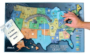 H. E. State Quarters Collector Map - State Quarters - Hobby Master - hobbymasterstore