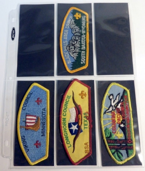 6-Pocket Pages with Backing Cards for Scout Patch Albums - Patch Pages - Hobby Master - hobbymasterstore