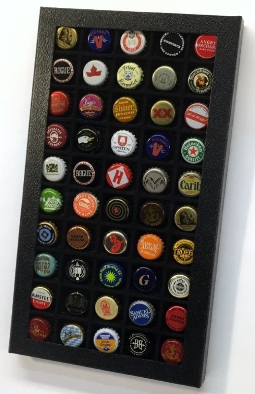 Pride bottle cap collector's display case
