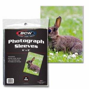 "Photograph Soft Sleeves 6"" x 8"" - Photo sleeves & toploaders - BCW - hobbymasterstore"