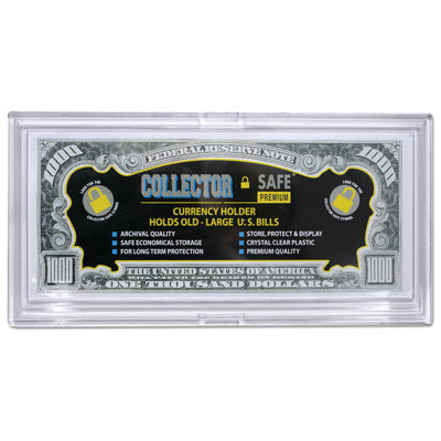 Large Currency Slab Holder - Snaplock Archival Quality - Coin & Currency Holders - hobbymasterstore - hobbymasterstore