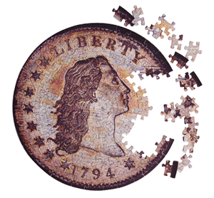 Coin Puzzle Contursi Dollar 250 mm - Coin & Currency Gifts - hobbymasterstore - hobbymasterstore