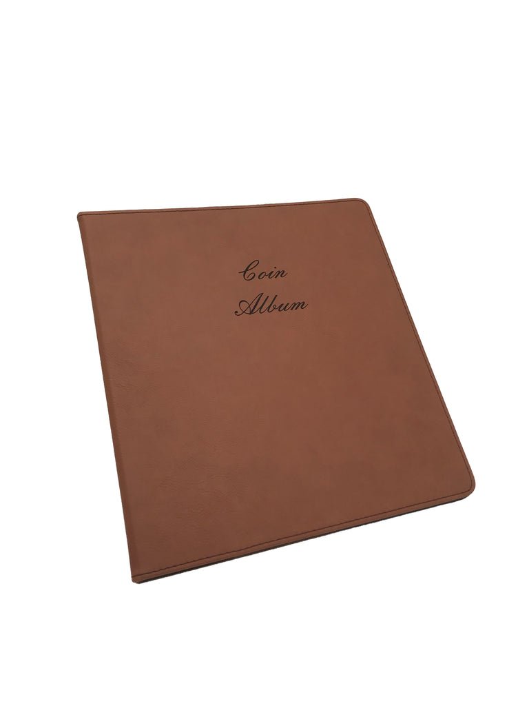 "Leatherette Coin Album - 1"" 3-ring binder"
