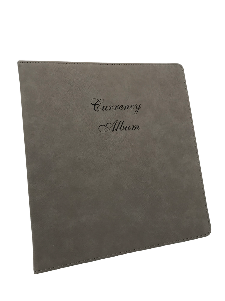 "Leatherette Currency Album - 1"" three ring binder"