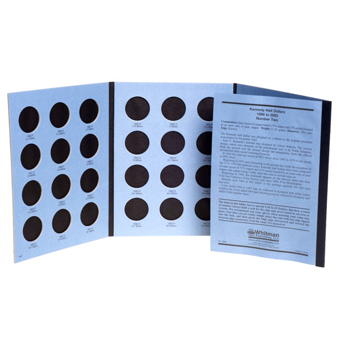Whitman Coin Folder - Kennedy Half Dollars #2 1986-2003 - Coin Folders - Hobby Master - hobbymasterstore