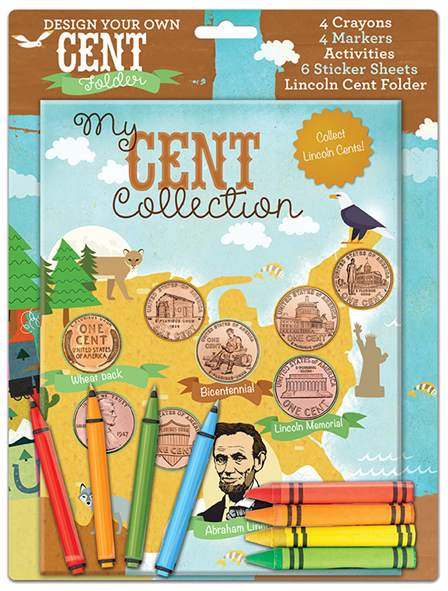 Whitman Design Your Own Cent Folder - My Cent Collection for Kids