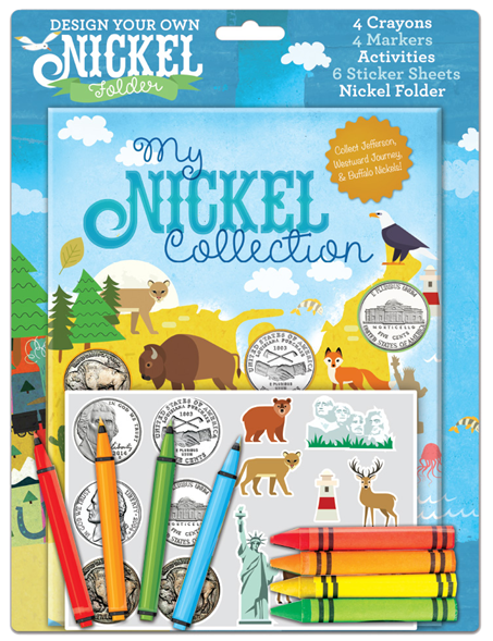 Whitman Design Your Own Nickel Folder - My Nickel Collection for Kids