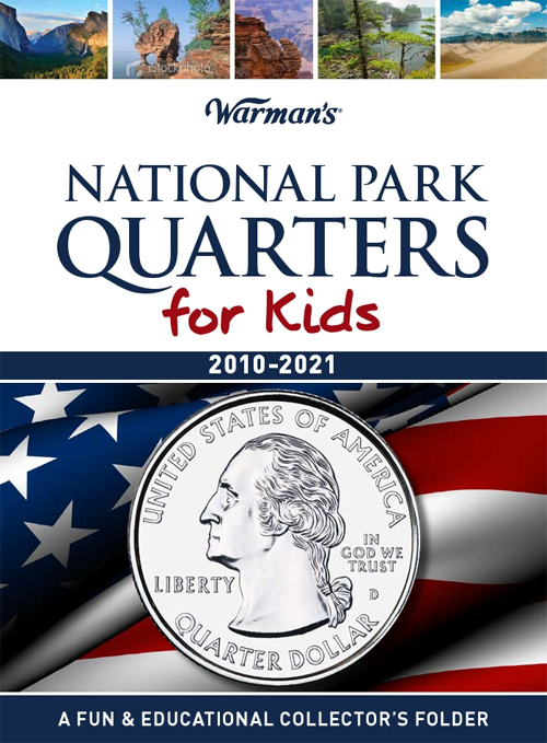 Warman's National Park Quarters Folder for Kids 2010-2021 - State Quarters - hobbymasterstore - hobbymasterstore