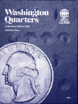 Whitman Coin Folder - Washington Quarter #2, 1948-1964 - Coin Folders - Hobby Master - hobbymasterstore