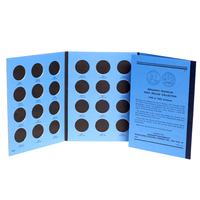 Whitman Coin Folder - Franklin Half Dollars 1948-1963 - Coin Folders - Hobby Master - hobbymasterstore