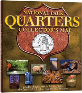 Whitman National Park Quarters Collector's Map -Hardcover - State Quarters - hobbymasterstore - hobbymasterstore