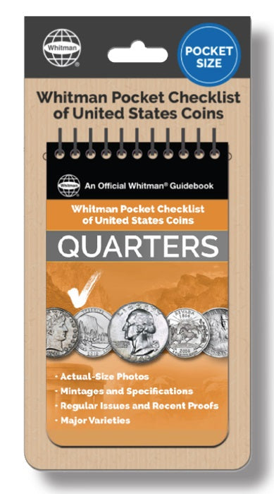 Whitman Pocket Checklist of United States Coins - Quarters - Price Guides & Accessories - hobbymasterstore - hobbymasterstore