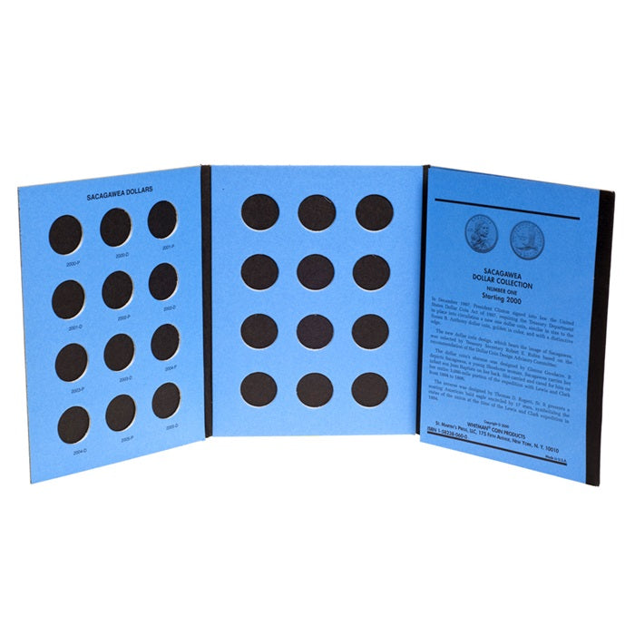 Whitman Coin Folder - Sacagawea Dollars 2000-2010 - Coin Folders - Hobby Master - hobbymasterstore