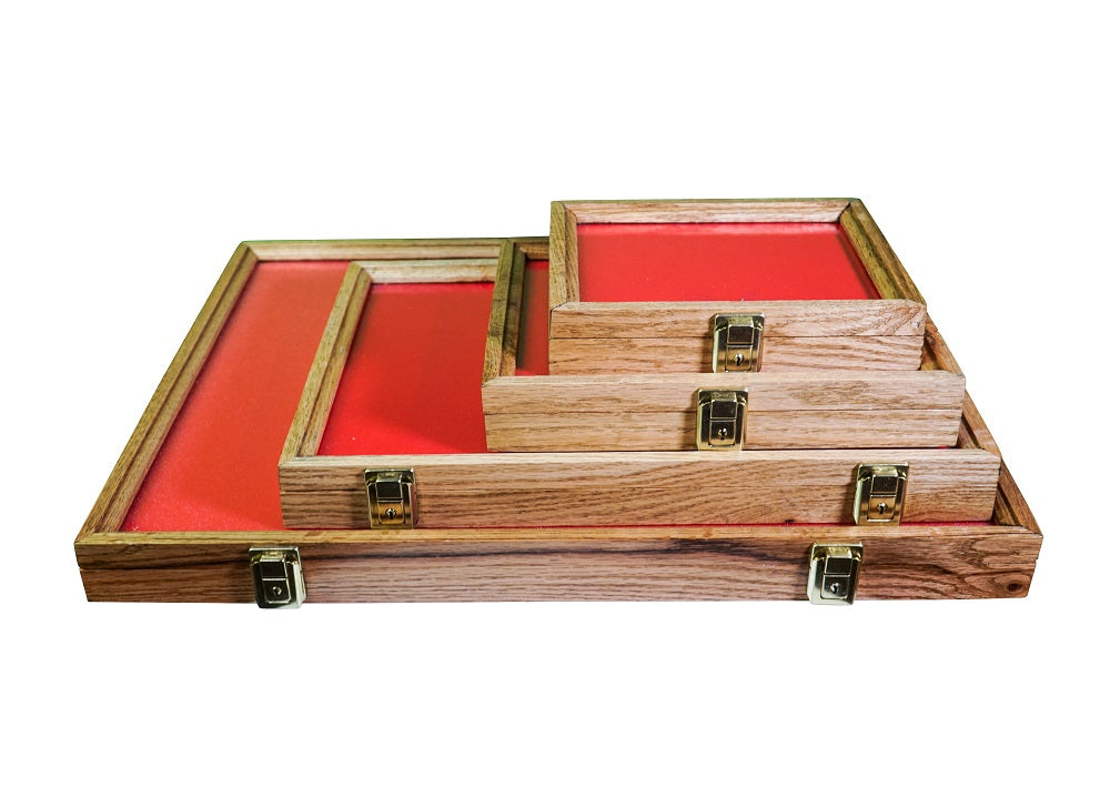 "Solid Wood Display Case for Collectors 24"" x 18"" x 2"" - Wood Display Cases - hobbymasterstore - hobbymasterstore"