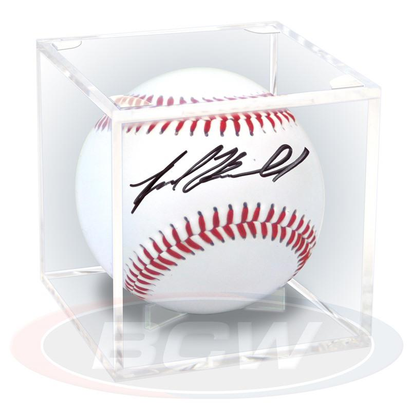Ballqube baseball holder with built-in stand - Display Frames & Cases - hobbymasterstore - hobbymasterstore