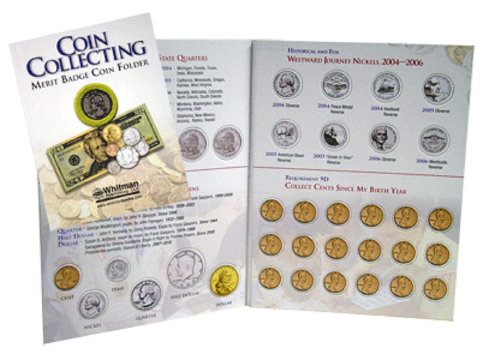 Whitman Merit Badge coin Folder -  - hobbymasterstore - hobbymasterstore