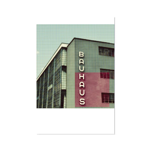 BAUHAUS ART SCHOOL, RED. DIGITAL GICLÉE PRINT.