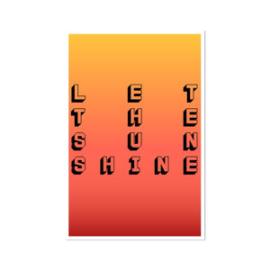 LET THE SUN SHINE. DIGITAL GICLÉE PRINT.