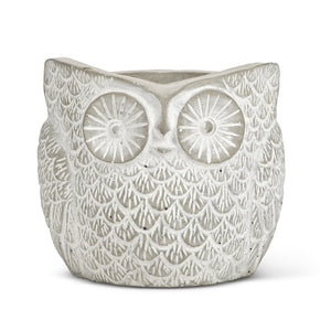 Small Textured Owl Planter