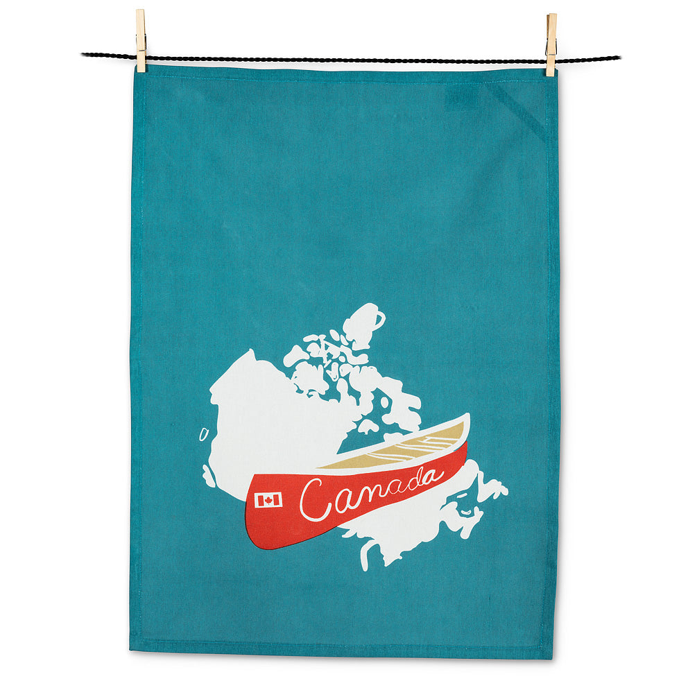 Red Canoe Tea Towel