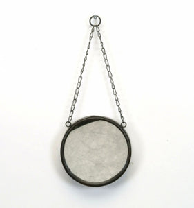 Metal Mirror with Chain - 6""