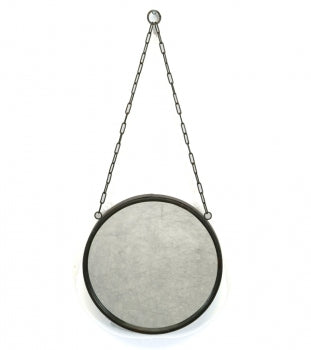 Metal Mirror with Chain  - 10""