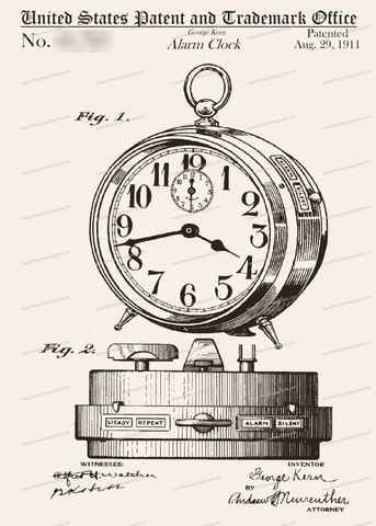 CARD-002: Alarm Clock - Patent Press™