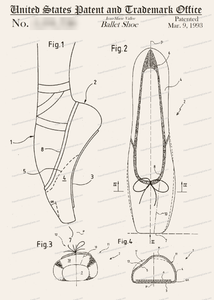 CARD-008: Ballet Slipper - Patent Press™
