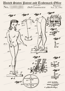 CARD-009: Barbie Doll - Patent Press™