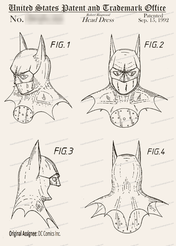 CARD-013: Batman Headdress - Patent Press™