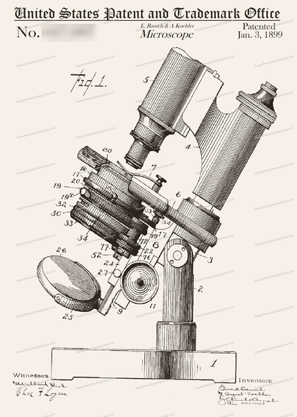 CARD-015: Bausch Microscope - Patent Press™