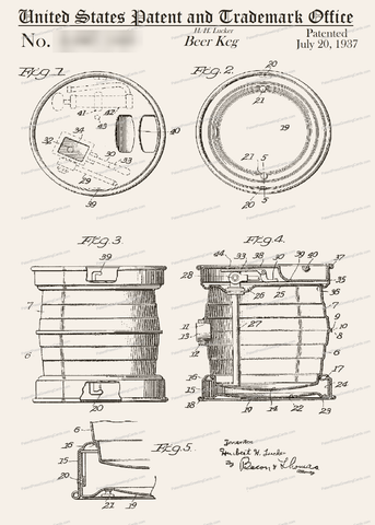 CARD-017: Beer Keg - Patent Press™