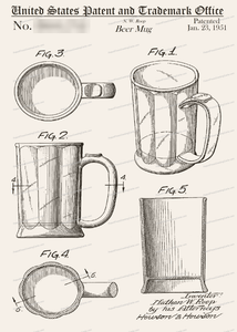 CARD-018: Beer Mug - Patent Press™