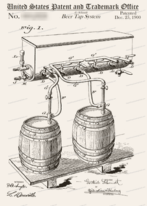 CARD-019: Beer Tap System - Patent Press™