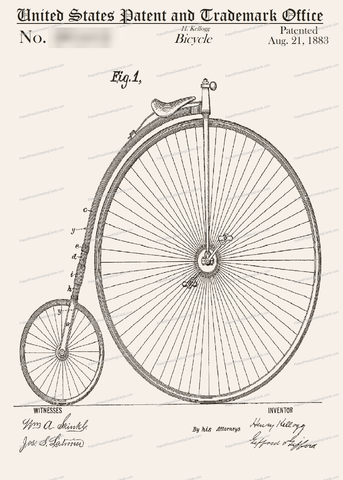 CARD-022: Big Bicycle - Patent Press™