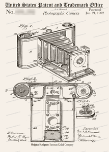 CARD-028: Kodak Camera (Brownie) - Patent Press™