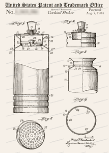CARD-030: Cocktail Shaker - Patent Press™