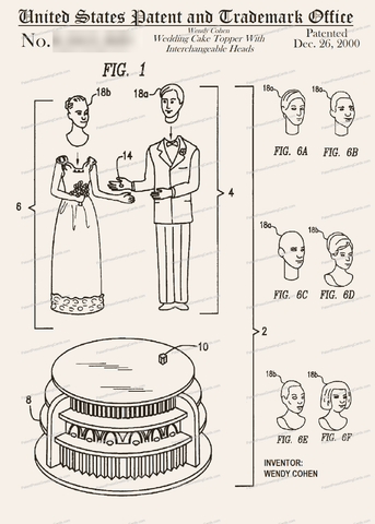 CARD-039: Wedding Cake Topper - Patent Press™