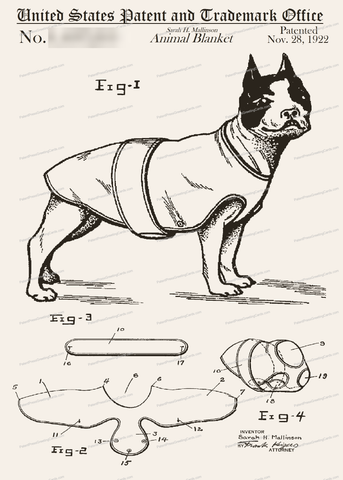 CARD-042: Dog Sweater - Patent Press™