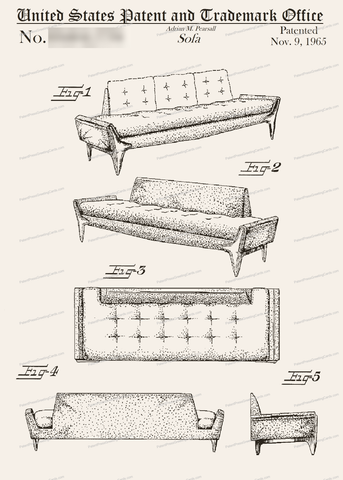 CARD-045: Purcell Sofa - Patent Press™