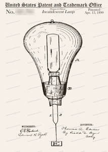 CARD-046: Edison Light Bulb - Patent Press™