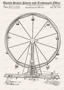 CARD-048: Ferris Wheel - Patent Press™