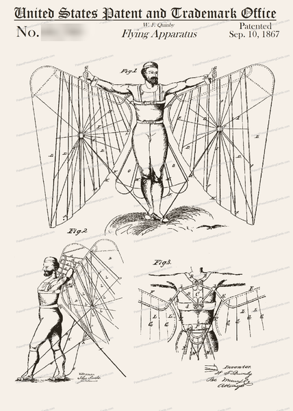 CARD-058: Flying Apparatus (1867) - Patent Press™