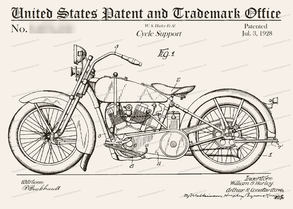 CARD-069: Harley (1928) - Patent Press™