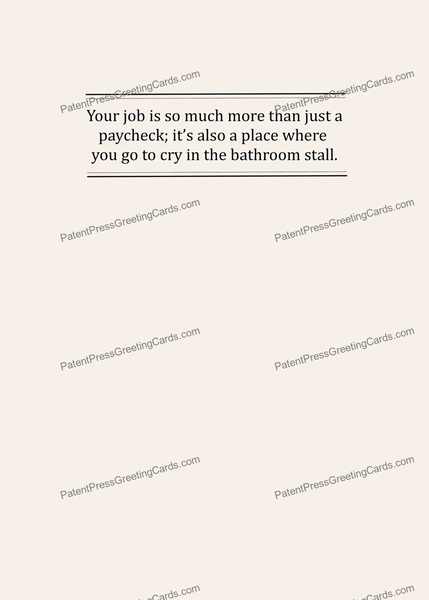 CARD-078: Bathroom Stall