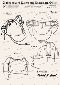 CARD-081: Beer Can Helmet - Patent Press™