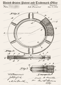 CARD-084: Life Preserver - Patent Press™