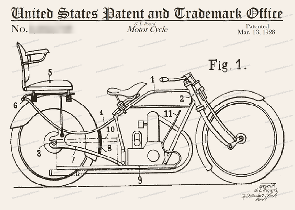 CARD-091: Motorcycle Backseat - Patent Press™