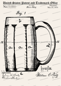 CARD-092: Beer Mug 1876 - Patent Press™