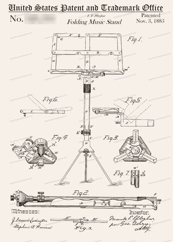 CARD-095: Music Stand - Patent Press™